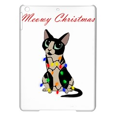 Meowy Christmas Ipad Air Hardshell Cases by Valentinaart