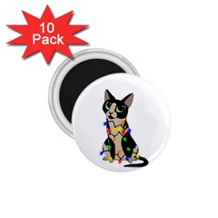 Meowy Christmas 1 75  Magnets (10 Pack)  by Valentinaart