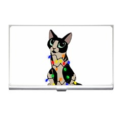 Meowy Christmas Business Card Holders by Valentinaart