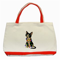 Meowy Christmas Classic Tote Bag (red) by Valentinaart