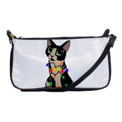 Meowy Christmas Shoulder Clutch Bags by Valentinaart