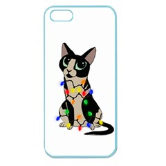 Meowy Christmas Apple Seamless Iphone 5 Case (color) by Valentinaart