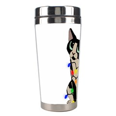 Meowy Christmas Stainless Steel Travel Tumblers by Valentinaart