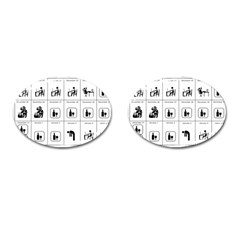 Holidays Cufflinks (oval) by Valentinaart