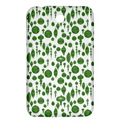 Vintage Christmas Ornaments In Green On White Samsung Galaxy Tab 3 (7 ) P3200 Hardshell Case  by PodArtist