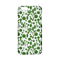 Vintage Christmas Ornaments In Green On White Apple Iphone 6/6s Hardshell Case by PodArtist