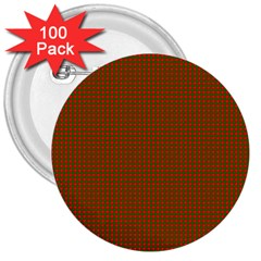 Classic Christmas Red And Green Houndstooth Check Pattern 3  Buttons (100 Pack)  by PodArtist