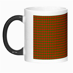 Classic Christmas Red And Green Houndstooth Check Pattern Morph Mugs by PodArtist