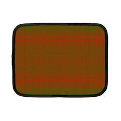 Classic Christmas Red And Green Houndstooth Check Pattern Netbook Case (small)  by PodArtist