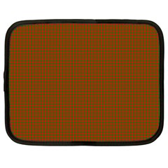 Classic Christmas Red And Green Houndstooth Check Pattern Netbook Case (large) by PodArtist