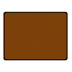 Classic Christmas Red And Green Houndstooth Check Pattern Fleece Blanket (small) by PodArtist