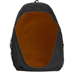 Classic Christmas Red And Green Houndstooth Check Pattern Backpack Bag by PodArtist