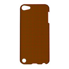 Classic Christmas Red And Green Houndstooth Check Pattern Apple Ipod Touch 5 Hardshell Case by PodArtist