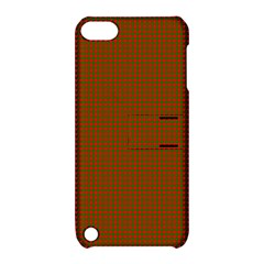 Classic Christmas Red And Green Houndstooth Check Pattern Apple Ipod Touch 5 Hardshell Case With Stand by PodArtist