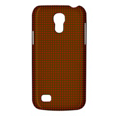 Classic Christmas Red And Green Houndstooth Check Pattern Galaxy S4 Mini by PodArtist