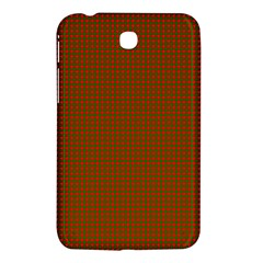 Classic Christmas Red And Green Houndstooth Check Pattern Samsung Galaxy Tab 3 (7 ) P3200 Hardshell Case  by PodArtist