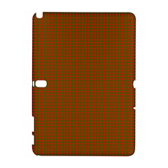Classic Christmas Red And Green Houndstooth Check Pattern Galaxy Note 1 by PodArtist