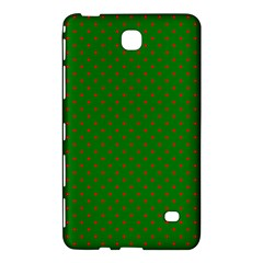 Mini Red Dots On Christmas Green Samsung Galaxy Tab 4 (8 ) Hardshell Case  by PodArtist