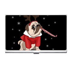 Pug Xmas Business Card Holders by Valentinaart