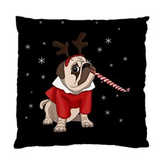 Pug Xmas Standard Cushion Case (one Side) by Valentinaart