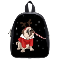 Pug Xmas School Bag (small) by Valentinaart