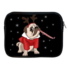 Pug Xmas Apple Ipad 2/3/4 Zipper Cases by Valentinaart