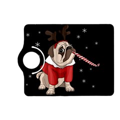 Pug Xmas Kindle Fire Hd (2013) Flip 360 Case by Valentinaart