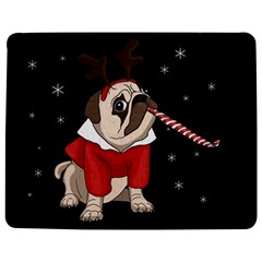 Pug Xmas Jigsaw Puzzle Photo Stand (rectangular) by Valentinaart