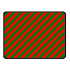 Red And Green Christmas Candycane Stripes Double Sided Fleece Blanket (small)  by PodArtist