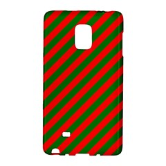 Red And Green Christmas Candycane Stripes Galaxy Note Edge by PodArtist