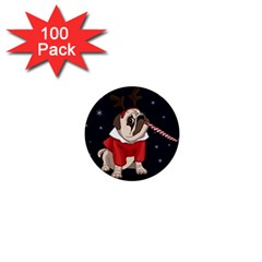 Pug Xmas 1  Mini Buttons (100 Pack)  by Valentinaart