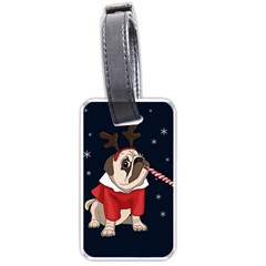 Pug Xmas Luggage Tags (two Sides) by Valentinaart