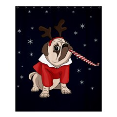 Pug Xmas Shower Curtain 60  X 72  (medium)  by Valentinaart