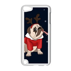 Pug Xmas Apple Ipod Touch 5 Case (white) by Valentinaart
