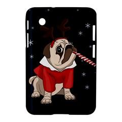 Pug Xmas Samsung Galaxy Tab 2 (7 ) P3100 Hardshell Case  by Valentinaart