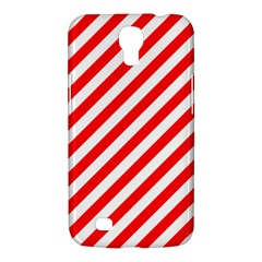 Christmas Red And White Candy Cane Stripes Samsung Galaxy Mega 6 3  I9200 Hardshell Case by PodArtist