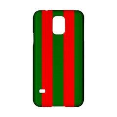 Wide Red And Green Christmas Cabana Stripes Samsung Galaxy S5 Hardshell Case  by PodArtist