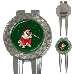 Pug Xmas 3 In 1 Golf Divots by Valentinaart