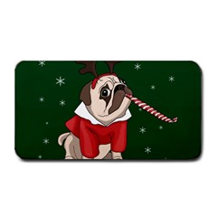 Pug Xmas Medium Bar Mats by Valentinaart
