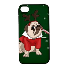 Pug Xmas Apple Iphone 4/4s Hardshell Case With Stand by Valentinaart