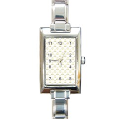 Gold Scales Of Justice On White Repeat Pattern All Over Print Rectangle Italian Charm Watch by PodArtist