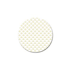 Gold Scales Of Justice On White Repeat Pattern All Over Print Golf Ball Marker (4 Pack) by PodArtist
