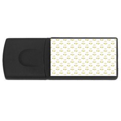 Gold Scales Of Justice On White Repeat Pattern All Over Print Rectangular Usb Flash Drive by PodArtist