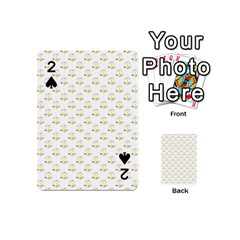 Gold Scales Of Justice On White Repeat Pattern All Over Print Playing Cards 54 (mini)  by PodArtist