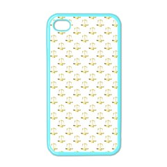 Gold Scales Of Justice On White Repeat Pattern All Over Print Apple Iphone 4 Case (color) by PodArtist