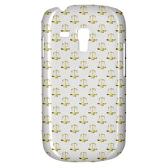 Gold Scales Of Justice On White Repeat Pattern All Over Print Galaxy S3 Mini by PodArtist