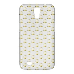Gold Scales Of Justice On White Repeat Pattern All Over Print Samsung Galaxy Mega 6 3  I9200 Hardshell Case by PodArtist