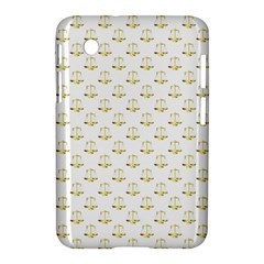 Gold Scales Of Justice On White Repeat Pattern All Over Print Samsung Galaxy Tab 2 (7 ) P3100 Hardshell Case  by PodArtist