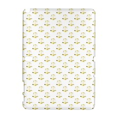 Gold Scales Of Justice On White Repeat Pattern All Over Print Galaxy Note 1 by PodArtist