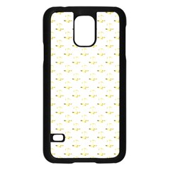 Gold Scales Of Justice On White Repeat Pattern All Over Print Samsung Galaxy S5 Case (black) by PodArtist